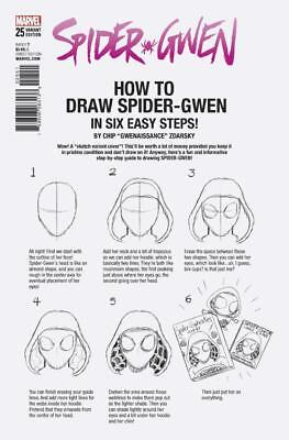 Spider-Gwen #25D, How To Draw Variant, NM 9.4, 1st Print, 2017