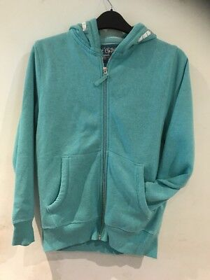Next Lovely Girls Green Zip Hoodie Age 10yrs