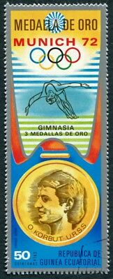 EQUATORIAL GUINEA 1972 50p used NG Olympic Medalists Munich O. Korbut AIR b a2