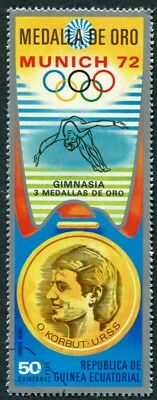 EQUATORIAL GUINEA 1972 50p used NG Olympic Medalists Munich O. Korbut AIR c a2