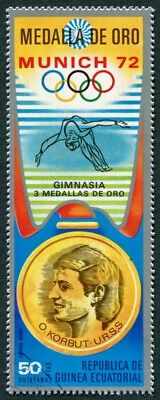 EQUATORIAL GUINEA 1972 50p used NG Olympic Medalists Munich O. Korbut AIR d a2