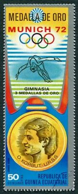 EQUATORIAL GUINEA 1972 50p used NG Olympic Medalists Munich O. Korbut AIR e a2