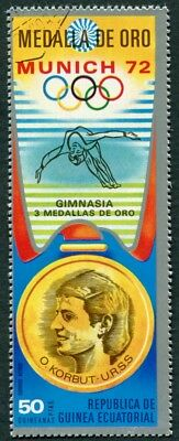 EQUATORIAL GUINEA 1972 50p used NG Olympic Medalists Munich O. Korbut AIR h a2