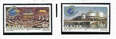 Malta 1999 Council of Europe Complete Set SG 1100 - 1101 MNH SEE SCAN.