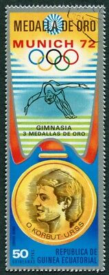 EQUATORIAL GUINEA 1972 50p used NG Olympic Medalists Munich O. Korbut AIR i a2