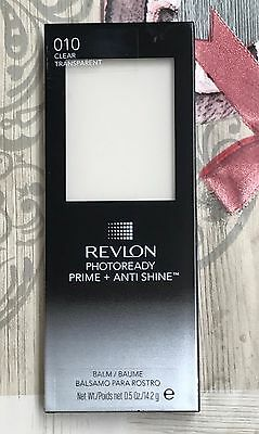 Revlon Photoready Prime + Anti Shine Balm. Clear/transparent. New & Sealed X