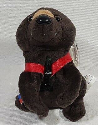Coca Cola International Beanie Baby Collection 1999 Baris The Bear Russia 0235