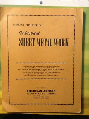 Industrial Sheet Metal Work  Book American Artisans Articles Air Conditioning