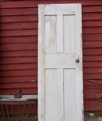 "Antique 4 Panel Interior Door Early 1800s Shabby 77-1/2""X 26-1/4"" Local Pick Up"