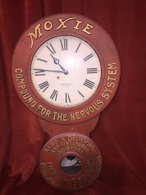 REPRODUCTION MOXIE Baird Advertising Clock General Store Soda Fountain