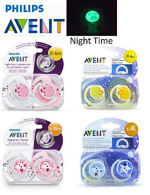 Baby Soother Dummy Pacifier Philips Avent 0-6m / 6-18m Orthodontic Night Time