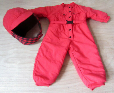 American Girl of Today Dog Sled Outfit Red Snowsuit and Hat Pleasant Company