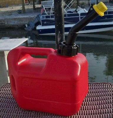 Blitz 1+ Gallon Gas Can Red Poly with Original Yellow Cap Clean Inside Estate