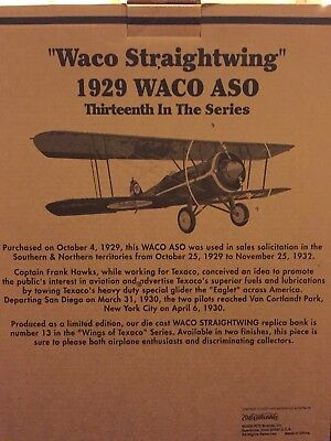 "NIB  ""Wings of Texaco"", 1929 Waco ASO, Special Edition Brushed Metal Finish"