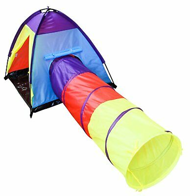 Adventure Dome and Tunnel Play Tent for Kids Indoor Outdoor Durable Nylon