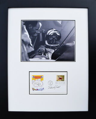 CHUCK YEAGER & Bob Cardenas Signed First Day Envelope - Framed ...