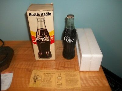 Vintage 1970's Coca Cola Bottle AM Radio from Hong Kong with box