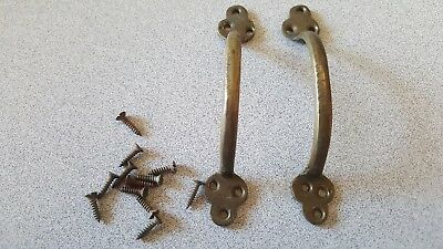 (2)  Vintage Drawer Pulls / Handles With Original Mounting Screws