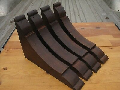 """Vintage Wood Corbels 15 1/2"""" x 10 1/2"""" x 2 1/4"""" Architectural Salvage Lot of 4"""