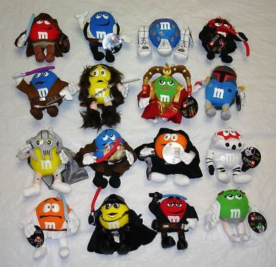 Collection of 16 M&M's 2005 Star Wars Mpire Plush ~ All in New Condition