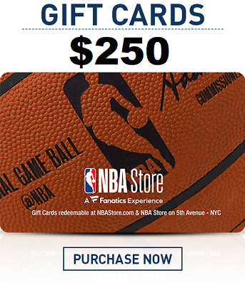 NBA Store $250 Gift Card - FAST DELIVERY