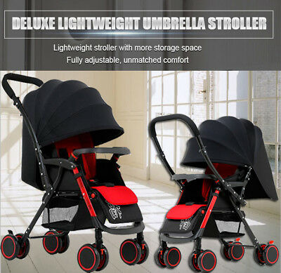 Coballe Baby Lightweight Pram Foldable Stroller Travel Umbrella Kids Pushchair