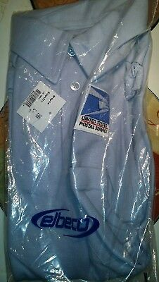 USPS Polo US Mail Uniforms Letter Carrier SHORTSLEEVE Large Shirt