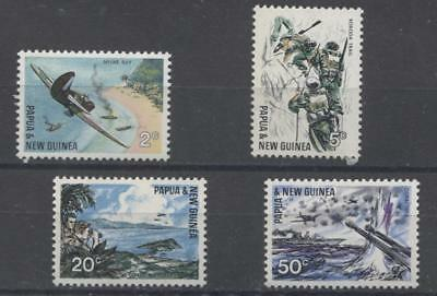 Papua New Guinea #245-248 1967 25th Anniversary of Pacific Battles Issue VF NH