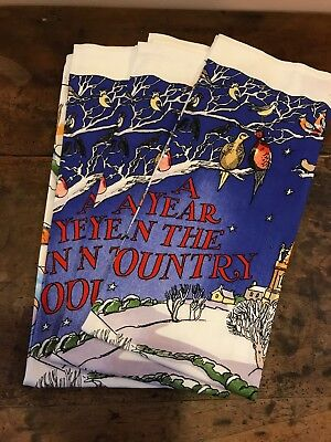 EMMA BRIDGEWATER  Tea Towel, A Year in the Country NEW
