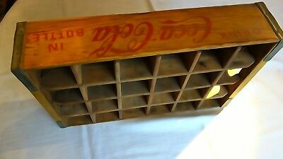 "Yellow and red 1968 Coca-Cola bottle crate, 24 slot, ""Lee Tidewater Cypress Div"""
