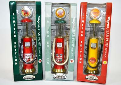 Lot of 3 Vintage 1930 Wayne Gas Pumps Replica Gearbox Collectible Texaco Shell