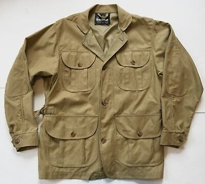 BARBOUR Khaki JOURNEYMANS safari military cargo Field jacket Men's Medium $395