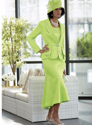 Xioma Skirt Suit Ashro Green Church Dress Size 6 16W PLUS