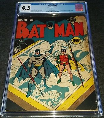 Batman Issue 10 4-5 1942 |  Cgc 4.5 Vg+ | Dc Golden-Age | Cat Woman New Costume