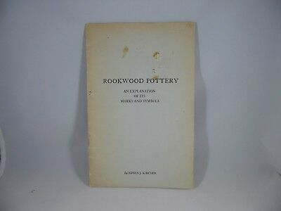 Kircher Rookwood Pottery Booklet Explanation of Marks Symbols and Artists Marks
