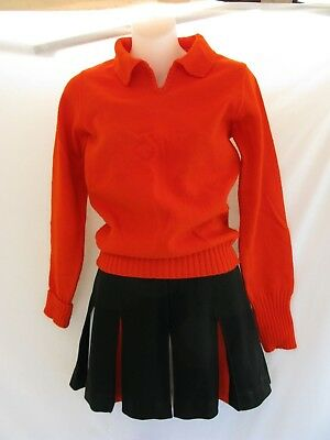 Vintage 60s 70s Girls Band Cheerleading Uniform Outfit Costume SM/MED Halloween?