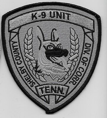 Shelby County Sheriff Corrections k9 k-9 Shoulder patch Subdued Tennessee TN