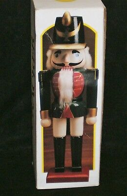 "Vintage Hand Painted Wooden 20"" Toy Soldier Nutcracker In Original Box"