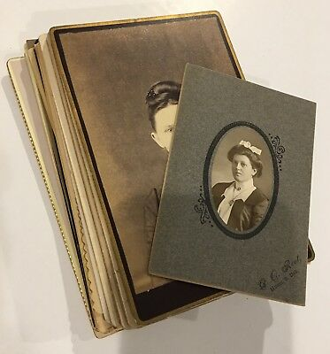 Antique Lot 28 - Cabinet Cards Women Ladies Young Old Girls Ethnic Mixed Lot #5