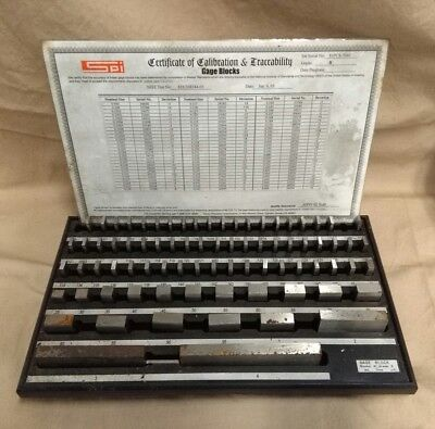 "SPI Steel Gage Block Set 79 Piece .10 To 4"" No Wood Case"