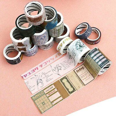 Go Travelling Series Washi Tape Decorative Adhesive Tape Deco Diy Scrapbookingss