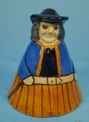 Old Pottery FRENCH COUNTRY PROVINCIAL MAN or WOMAN FIGURAL BELL France 159 AG