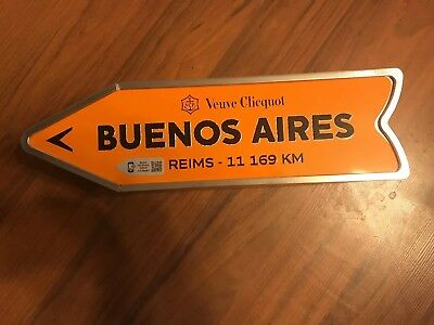 Veuve Clicquot Arrow Tin BUENOS AIRES Reims Champagne Journey Arrow Street Sign