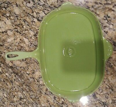 Le Creuset Beautiful!  Enameled Cast Iron Oblong Skillet Grill Pan No 32