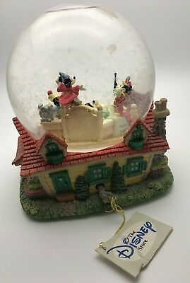 Vintage Walt Disney Mickey Mouse Snow Globe When You Wish Upon A Star Rare 1990s