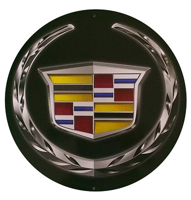 "Cadillac Shield 24"" Diameter Metal Sign"