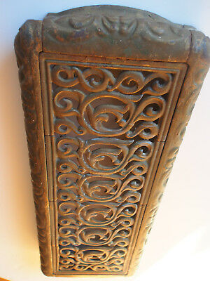 Antique Victorian Cast Iron Top Radiator Cover Scroll w/ Pedestal Architectural