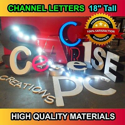 Store Sign, Custom Made Signage Led  Channel Letters Illuminated