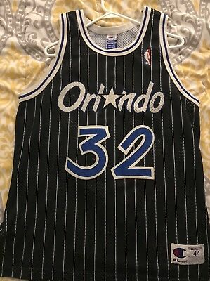 87563d9d Champion Shaq Shaquille O'Neal Authentic Orlando Magic jersey 44 vintage 90s  Use