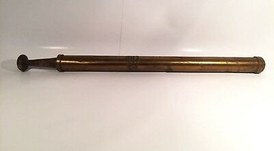 Lewis Combination Force Pump Antique Brass Water Pesticide Sprayer Wood Handle